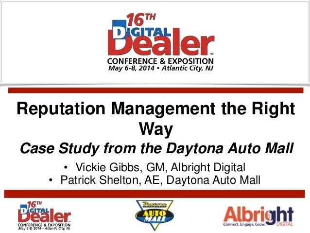 Daytona Auto Mall >> Reputation Management The Right Way Case Study Daytona Auto Mall Di