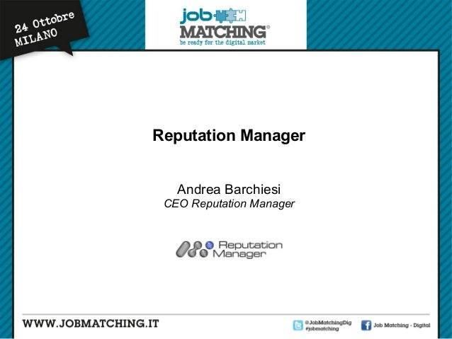 Reputation Manager Andrea Barchiesi CEO Reputation Manager