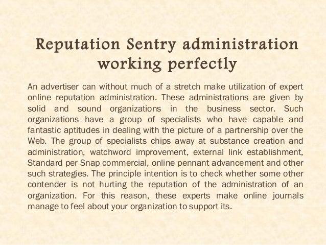 Reputation Sentry For Online Reputation Development Slide 3