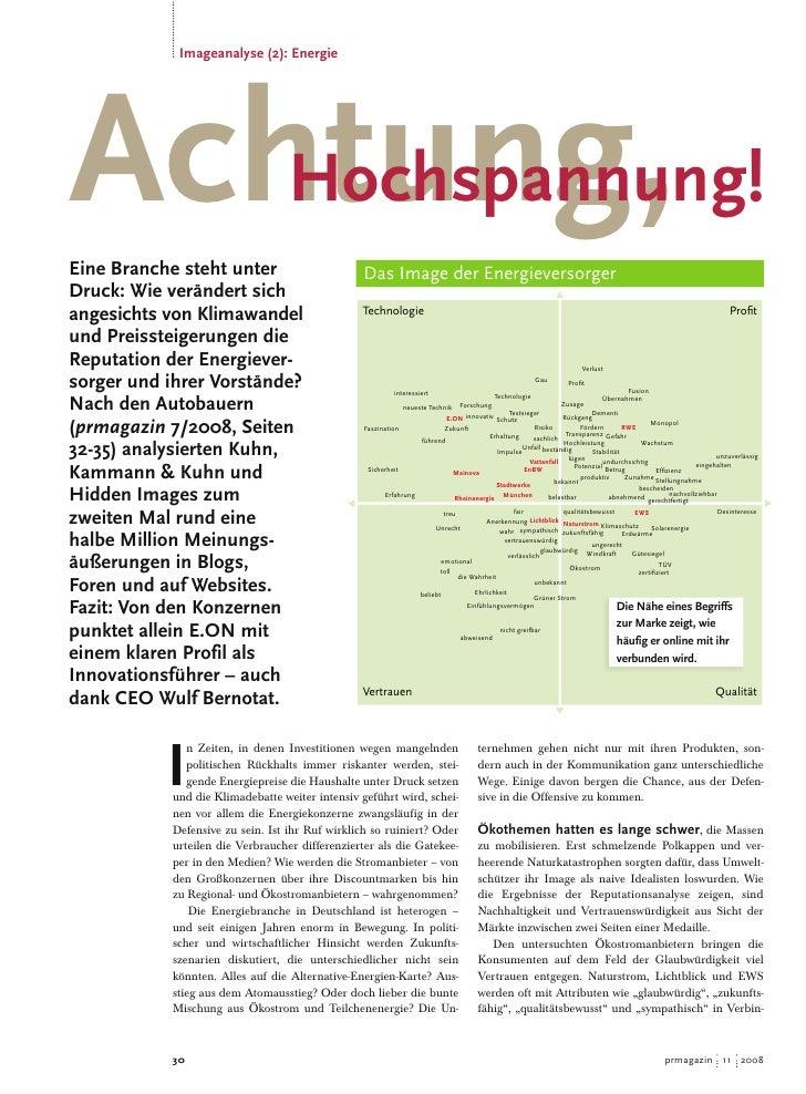Reputationsanalyse Energiebranche - Achtung Hochspannung!, KKundK