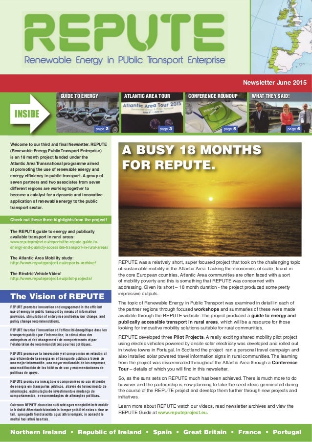REPUTE promotes innovation and engagement in the efficient use of energy in public transport by means of information provi...