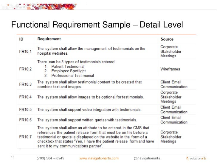 functional requirement sample  u2013 detail