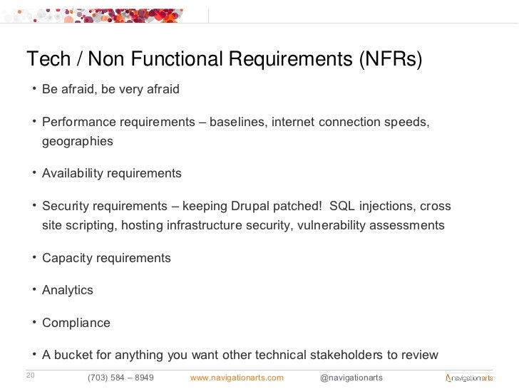 Tech Non Functional Requirements