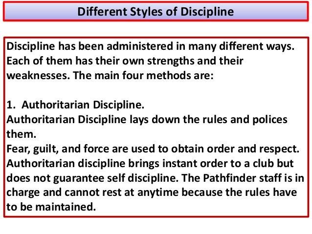 Understanding discipline