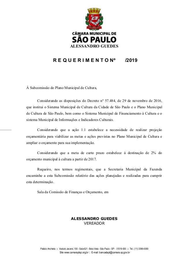 ALESSANDRO GUEDES Pal�cio Anchieta :: Viaduto Jacare�, 100 - Sala 621 - Bela Vista - S�o Paulo - SP - 01319-900 :: Tel.: (...