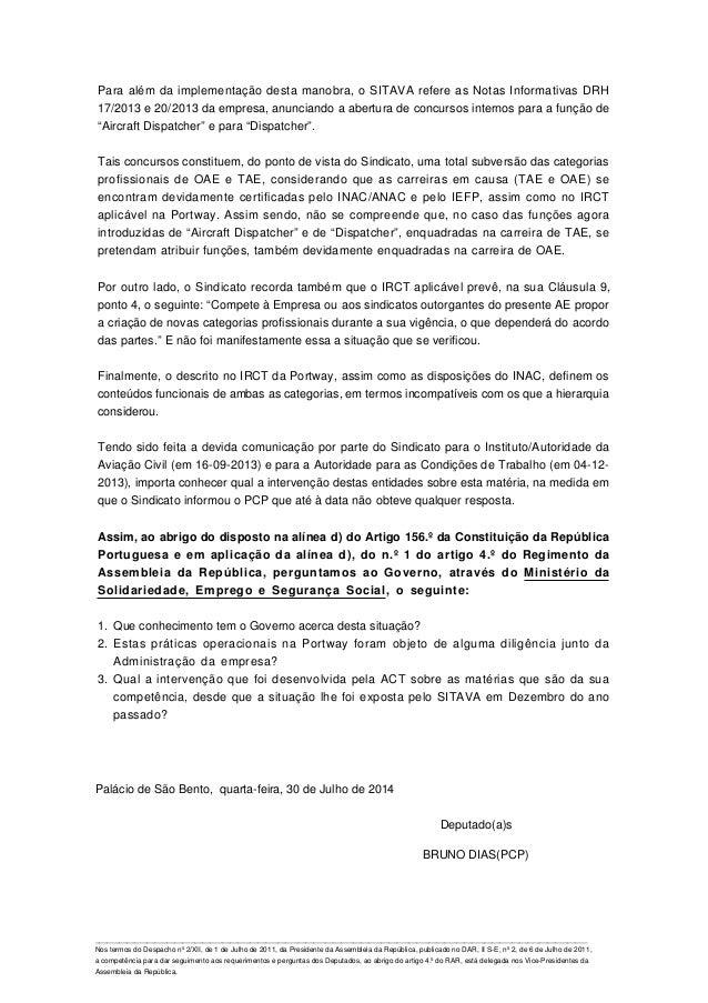 Para além da implementação desta manobra, o SITAVA refere as Notas Informativas DRH 17/2013 e 20/2013 da empresa, anuncian...