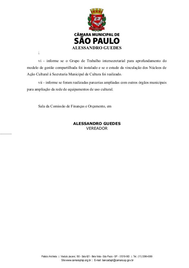 ALESSANDRO GUEDES ; vi - informe se o Grupo de Trabalho intersecretarial para aprofundamento do modelo de gest�o compartil...