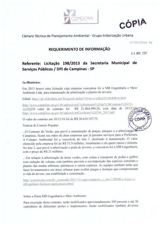 Requerimento licitação DPJ aprovado pelo COMDEMA