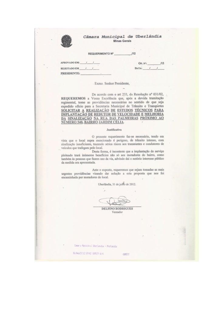 Requerimentos agosto/2012  - Primeiras sessões