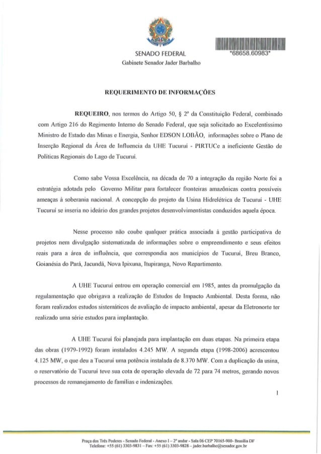 Praca dos Tres Poderes - Scnado Federal - Anexo 1- 2° andar - Sala 06 CEP 70165-900- Brasilia DFTelefone: +55 (61) 3303-98...