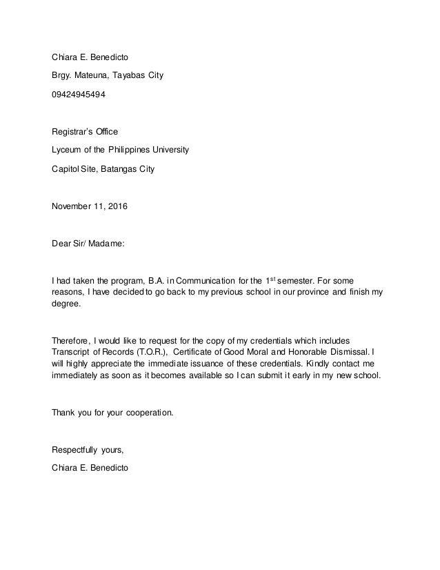 letter of dismissal example