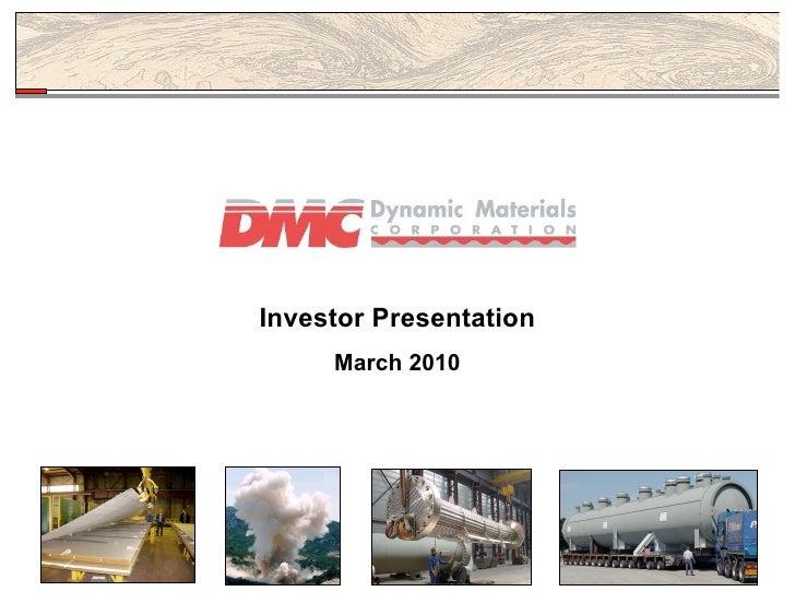 Investor Presentation      March 2010                             0
