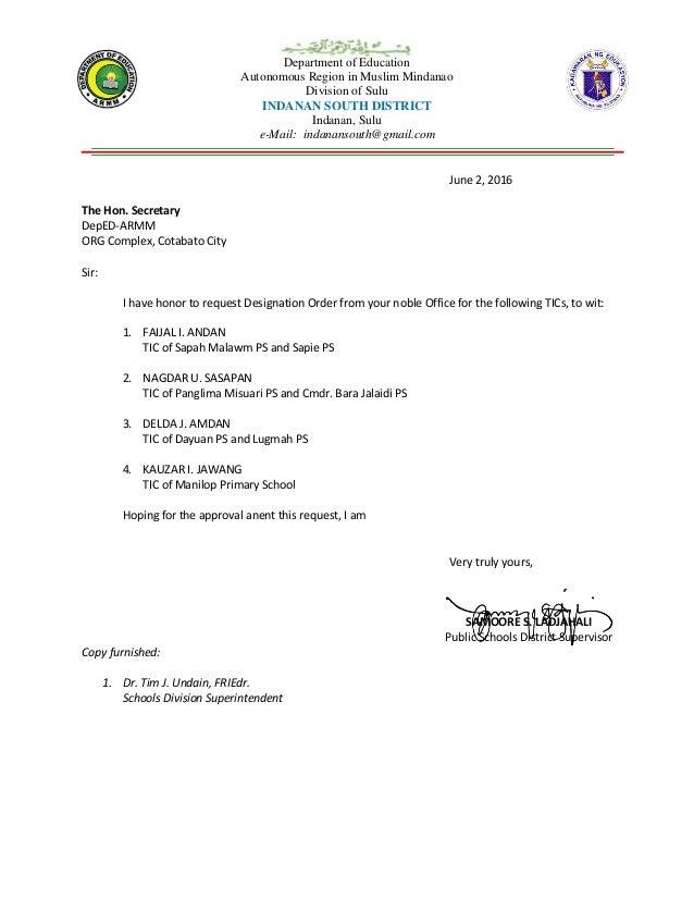 Department of Education Autonomous Region in Muslim Mindanao Division of Sulu INDANAN SOUTH DISTRICT Indanan, Sulu e-Mail:...