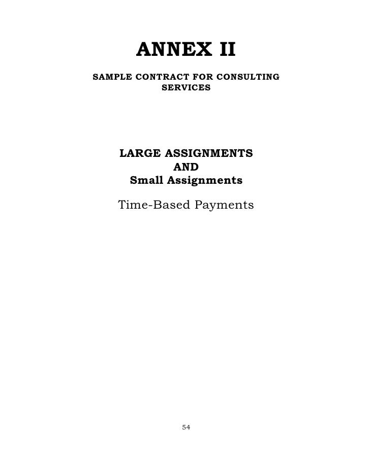 Annex b sample proposal | an assessment of the small business.