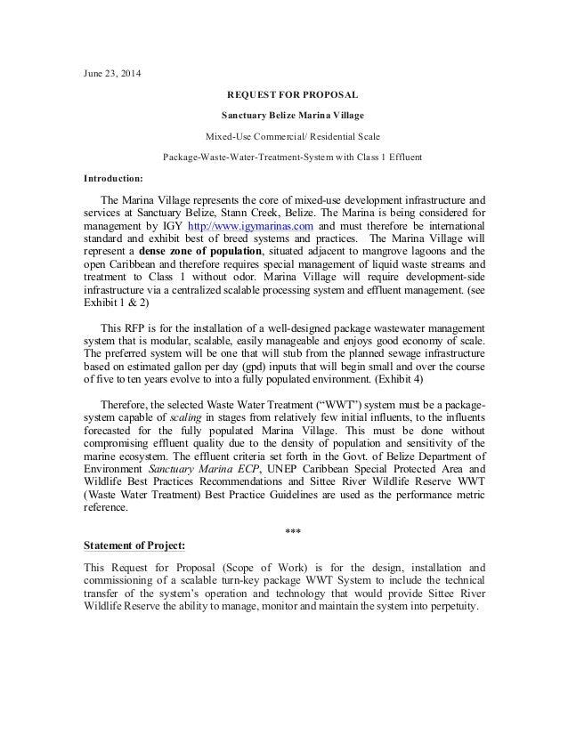Wwts Sanctuary Belize Marina Village Request For Proposalmm2fc3f