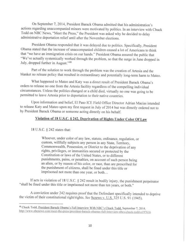 Request for prosecution part 1