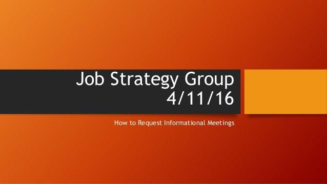 requesting informational interviews  u0026 meetings