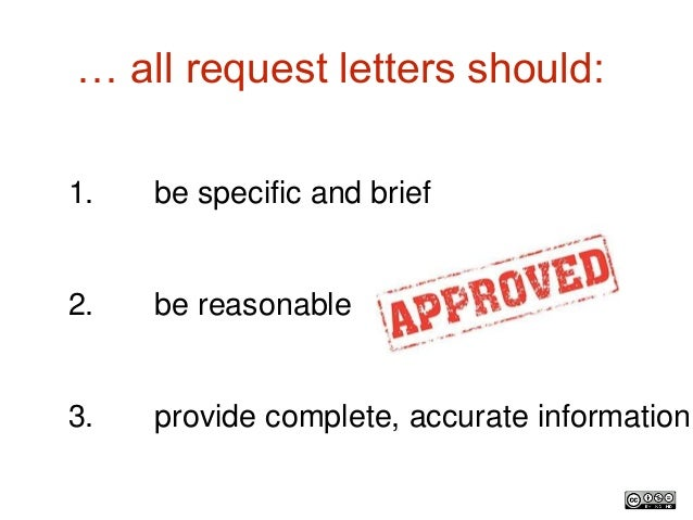 Request Letters