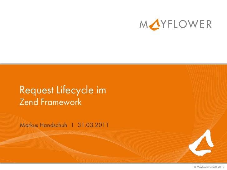 Request Lifecycle imZend FrameworkMarkus Handschuh I 31.03.2011                                © Mayflower GmbH 2010