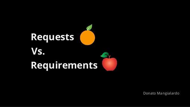 Requests Requirements Vs. Donato Mangialardo