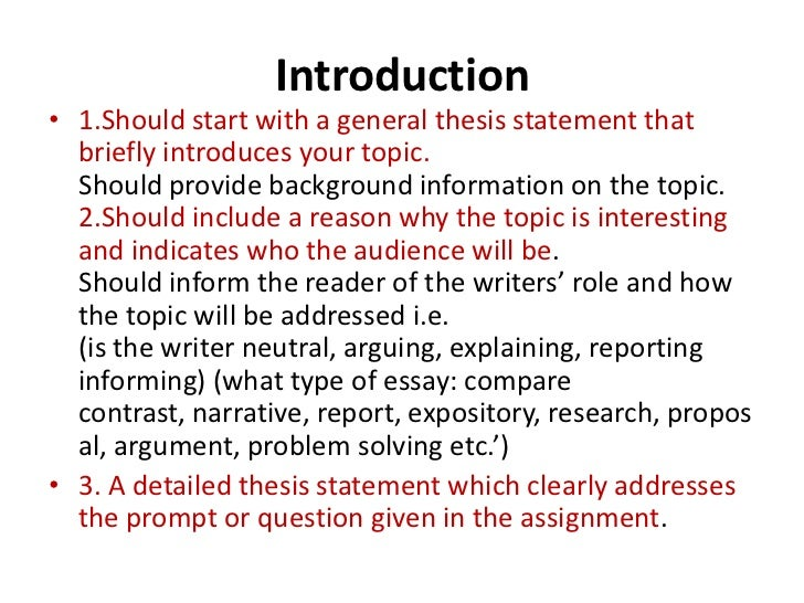 Slideshow introductions for essays