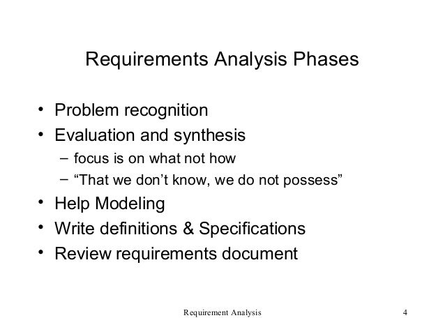 Requirement Analysis - Software Enigneering