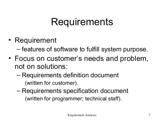 Requirement Analysis  Software Enigneering