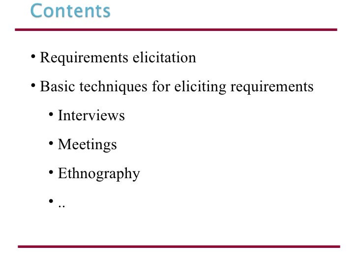 requirement techniquesrequirements elicitation 3