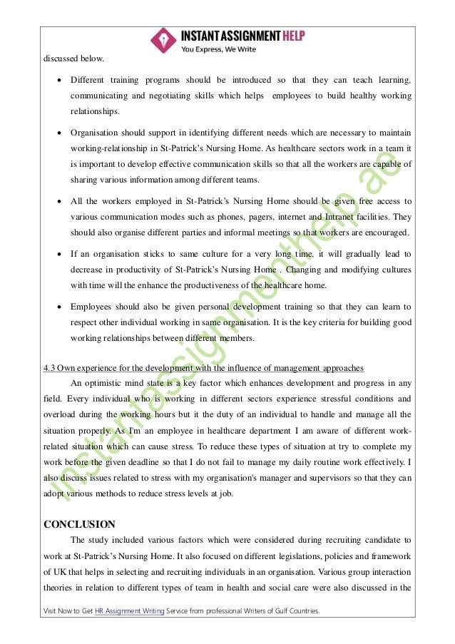 Requirement of human resource management in an organization