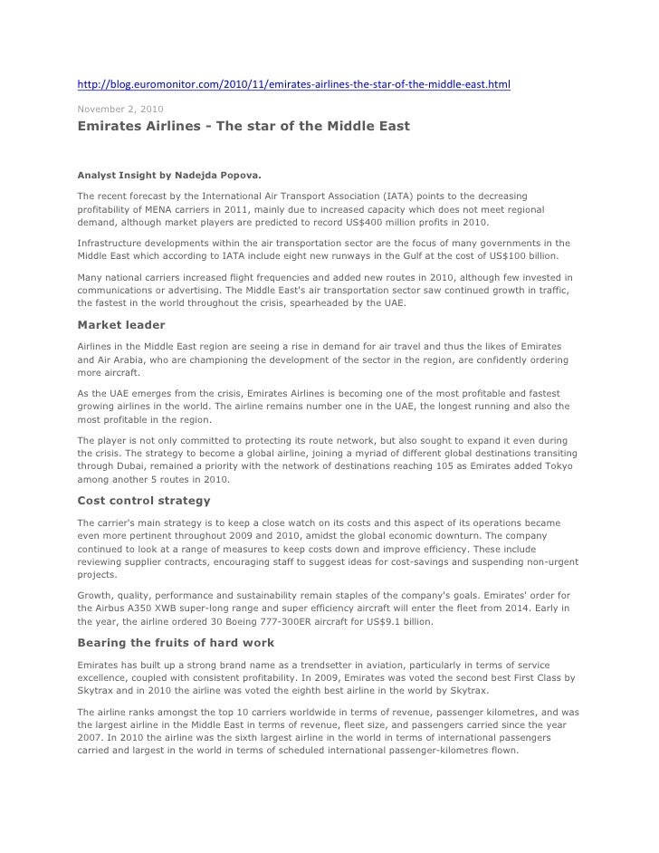 http://blog.euromonitor.com/2010/11/emirates-airlines-the-star-of-the-middle-east.html <br />November 2, 2010<br />Emirate...