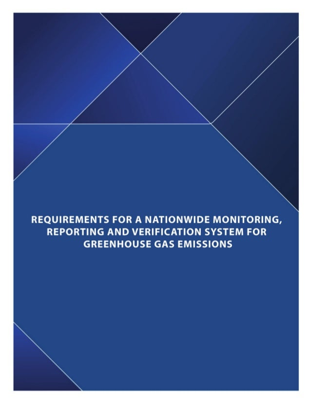 requirements for a nationwide monitoring  reporting and