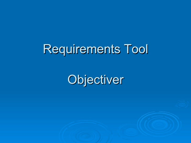 Requirements Tool Objectiver