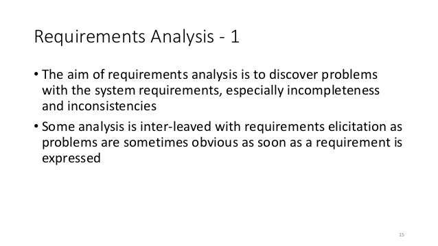 Requirements Analysis And Modeling