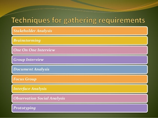 Software Requirement Elicitation Techniques - Requirements gathering software