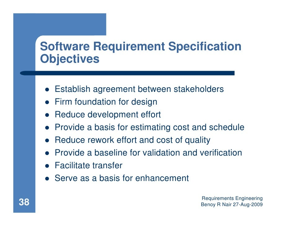 Requirements Engineering - Requirement documentation in software engineering