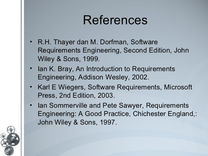 Cs 5310: software requirements analysis and specification, fall 2012.