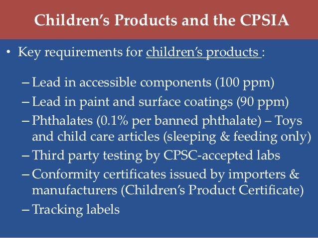 Profeco pro consumer week requirements for children 39 s for When was lead paint banned