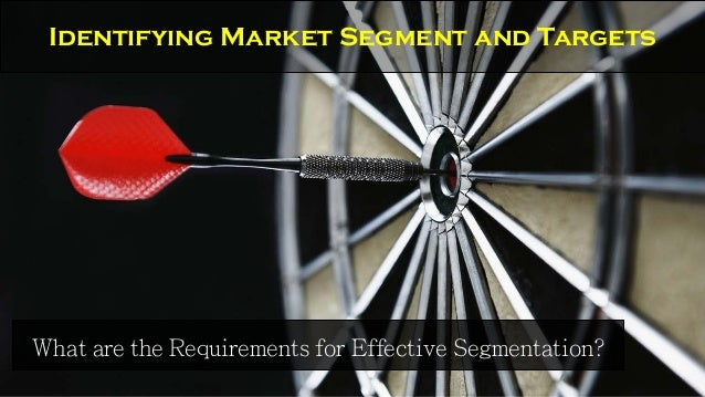 What are the Requirements for Effective Segmentation? Identifying Market Segment and Targets