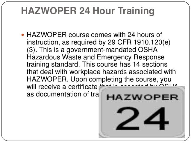 requirements for hazwoper training