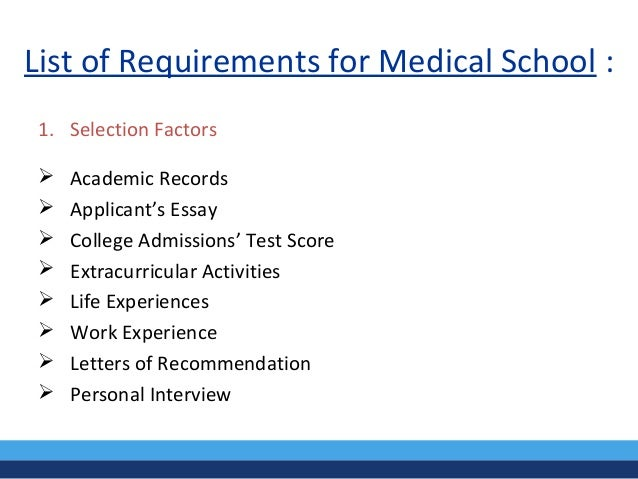 Medical School Letters Of Reccomendation