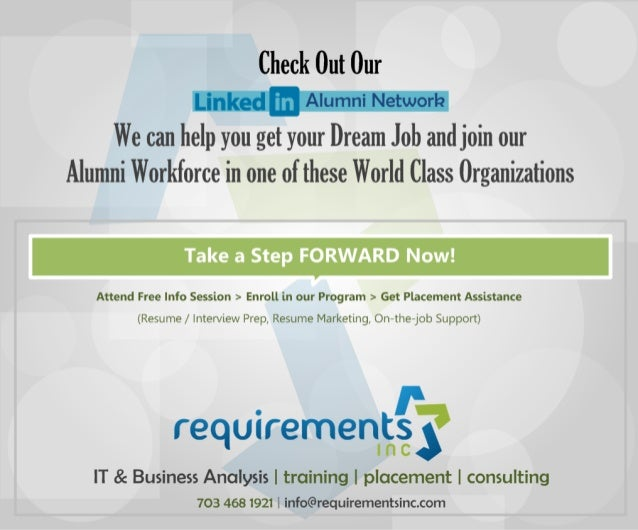 Requirements inc. Reviews - LinkedIn Profiles of our Alumni!