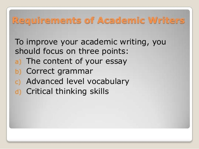 how to improve academic writing skills