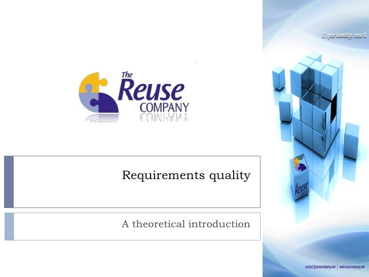 Requirements qualityA theoretical introduction