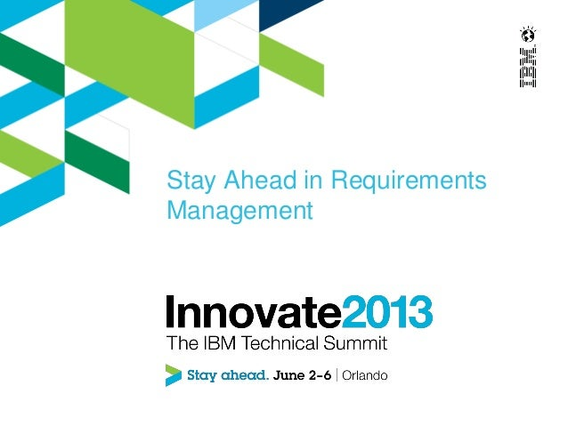 Stay Ahead in RequirementsManagement