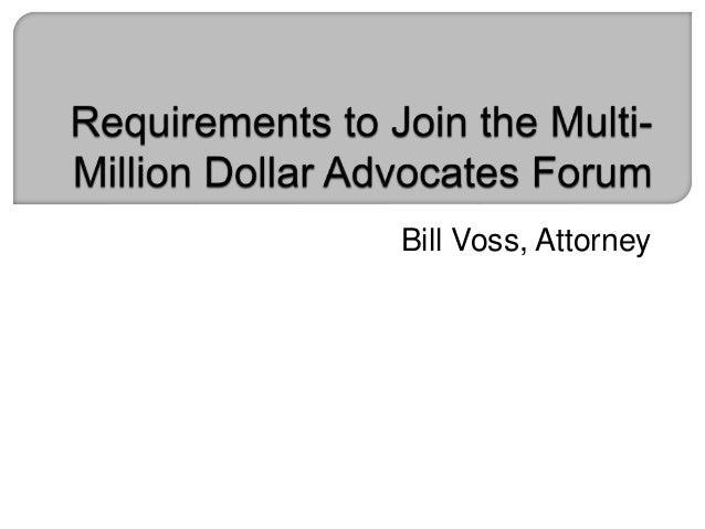 Bill Voss, Attorney