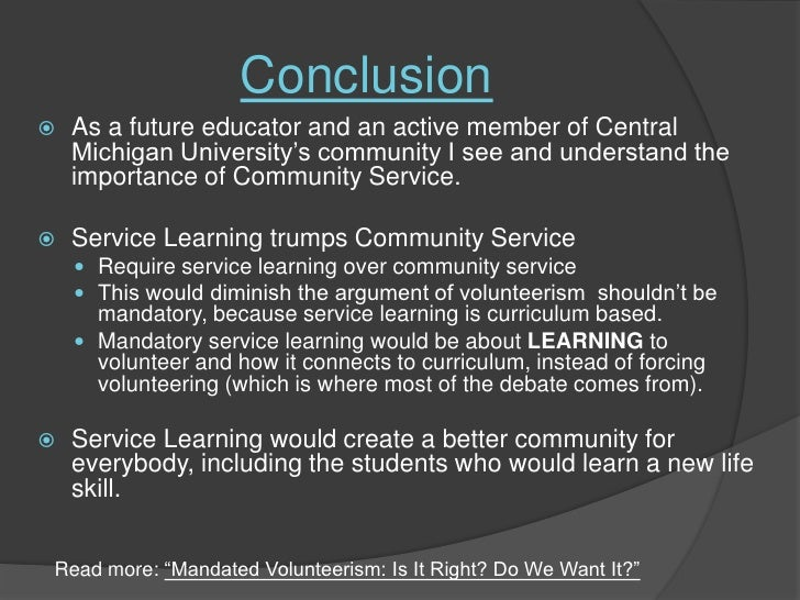 Essay on why community service is important