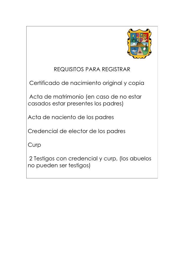 Requisitos - Requisitos para casarse ...
