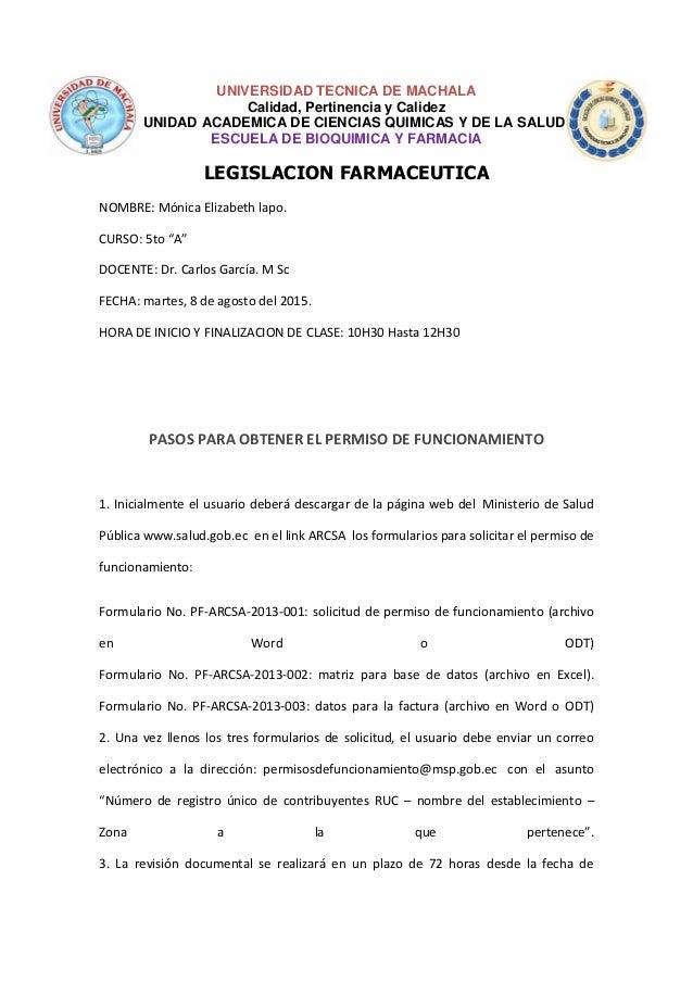 UNIVERSIDAD TECNICA DE MACHALA Calidad, Pertinencia y Calidez UNIDAD ACADEMICA DE CIENCIAS QUIMICAS Y DE LA SALUD ESCUELA ...