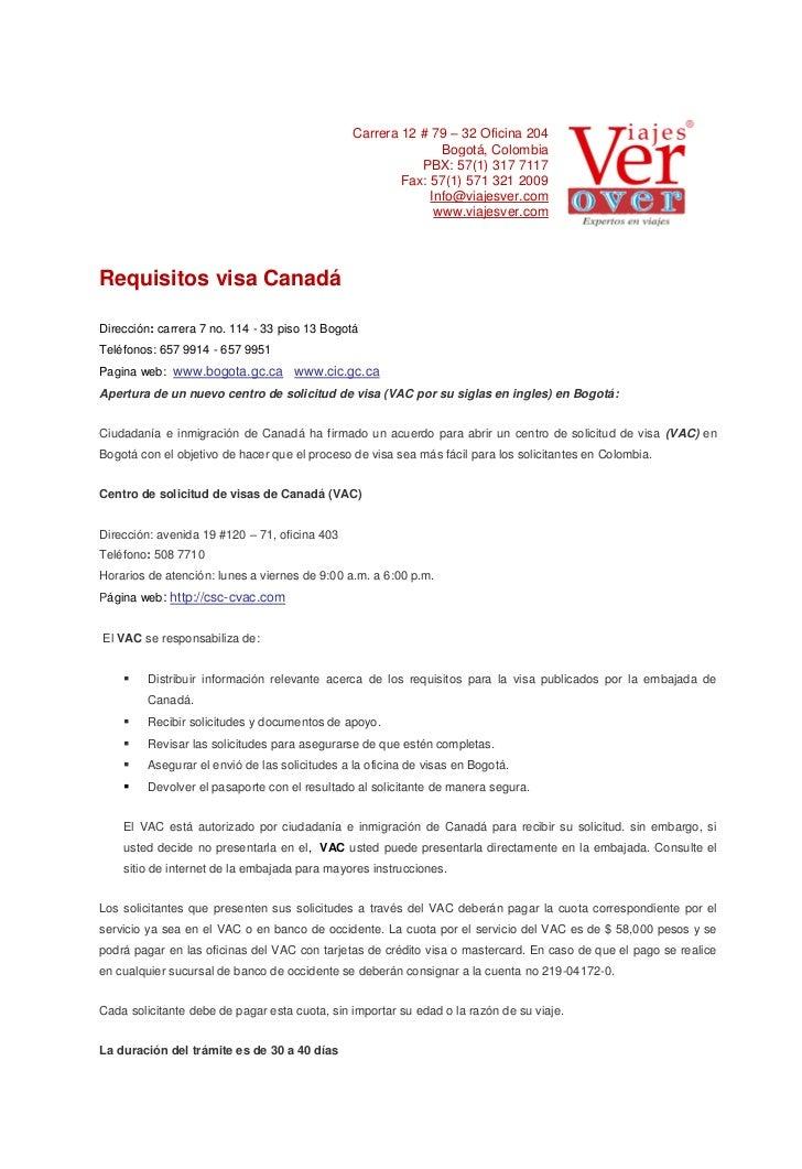 Visas-Canada-Documentación-Tramites-www.viajesver.com