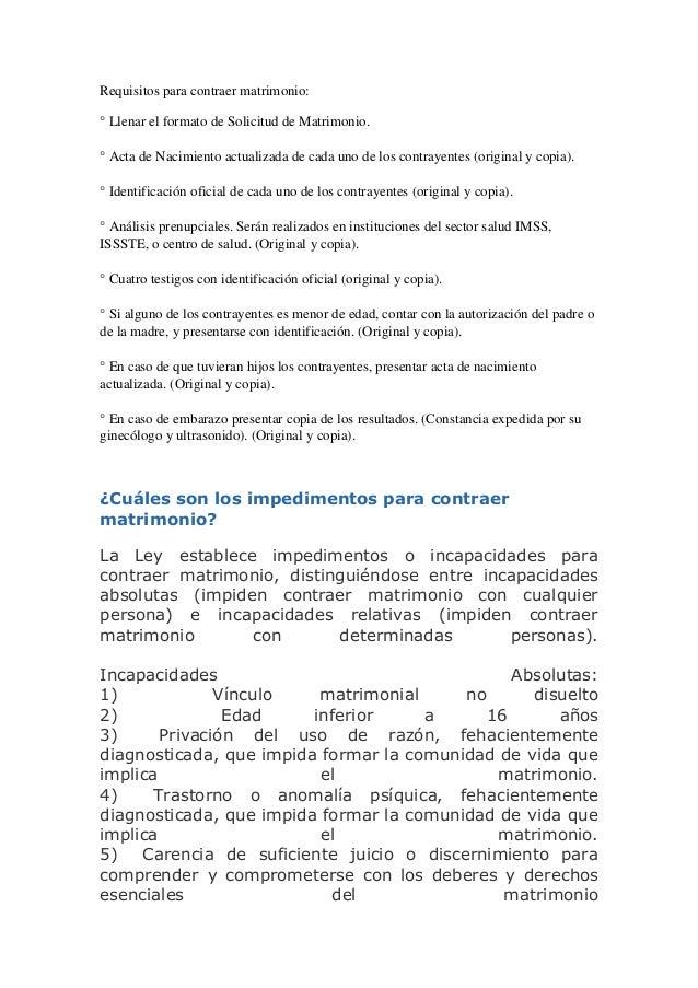 Requisitos para contraer matrimonio 1 solicitud de requisitos para contraer matrimonio - Requisitos para casarse ...